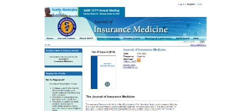 Journal of Insurance Medicine