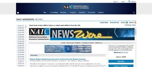 National Assoc Ins Commissioners