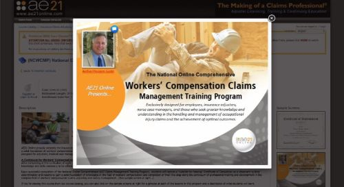 AE21 Online Workers' Compensation Claims Management Program