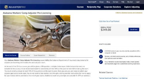 AdjusterPros Alabama Workers' Comp Adjuster Pre-Licensing