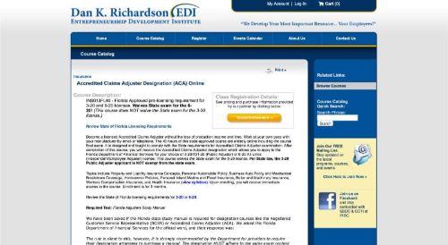 EDI Accredited Claims Adjuster Designation (ACA) Online