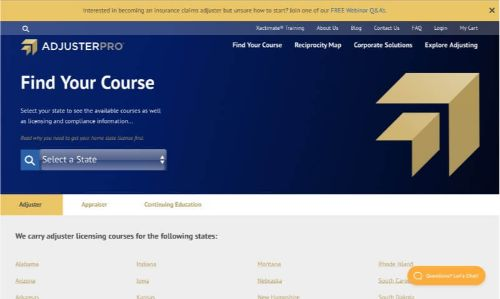 Adjuster Pro All-Lines Adjuster Courses