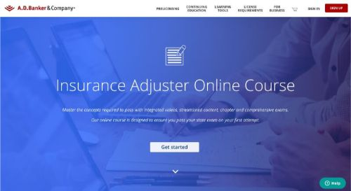 A.D. Banker & Co. Insurance Adjuster Online Course
