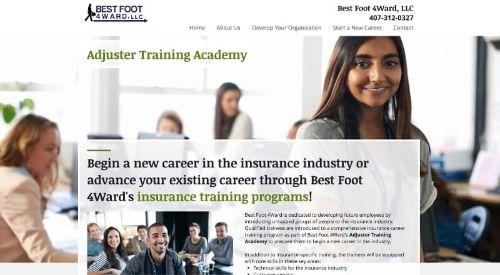 Best Foot 4Ward, LLC Adjuster Training Academy