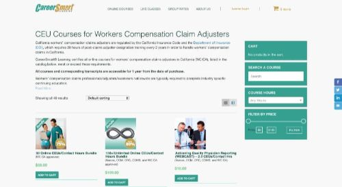 Career Smart Learning CEU Courses for Workers' Compensation Claim Adjusters
