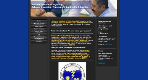 National Institute of Adjusting Adjuster Licensing, Training