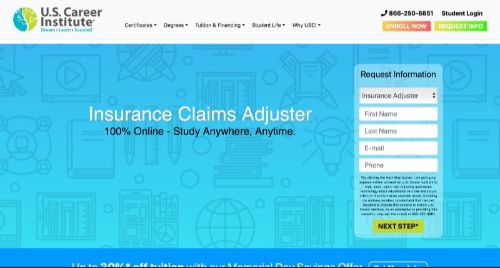 U.S. Career Institute Insurance Claims Adjuster Course