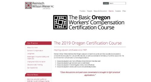 The Basic Oregon Workers' Compensation Certification Course