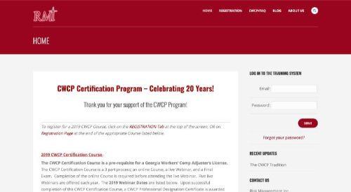 RMI CWCP Certification Program